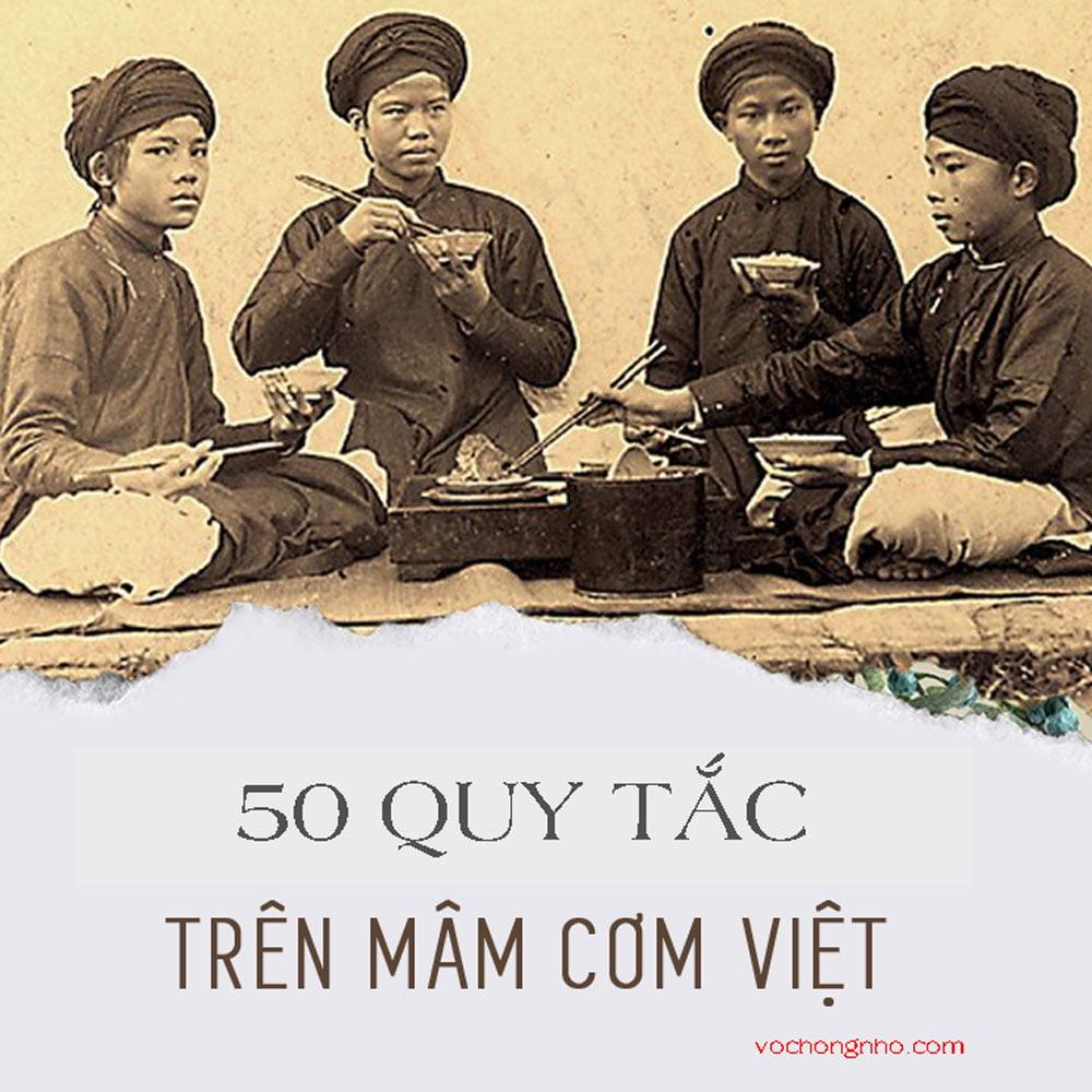 50 quy tắc trên mâm cơm Việt